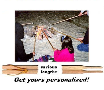 People toasting marshmallows at a beach fire. Various lengths. Get yours personalized.